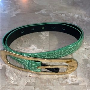 Oscar de la Renta genuine snake belt.
